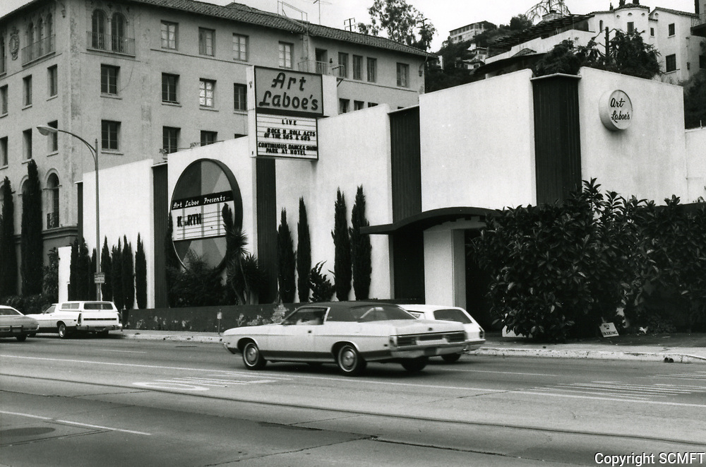 1973 Art Laboe's Nightclub on Sunset Blvd. in West Hollywood