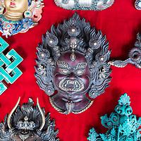 Bhutanese mask in a market in Thimpu<br /> <br /> Full photoessay at http://xpatmatt.com/photos/bhutan-photos/