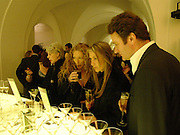 Kelly Hoppen, Anya Hindmarch and James Seymour, Jo Malone 10th anniversary party. The Undercroft, The  Banqueting House. Whitehall. 21 October 2004. ONE TIME USE ONLY - DO NOT ARCHIVE  © Copyright Photograph by Dafydd Jones 66 Stockwell Park Rd. London SW9 0DA Tel 020 7733 0108 www.dafjones.com
