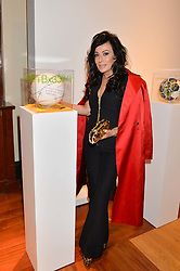 NANCY DELL'OLIO at the Art of Futebol - a charity auction of 11 footballs signed by 11 Brazilian legends from Pele to Neymar & decorated and designed by 11 leading contemporary artists in aid of Action for Brazil's Children Trust held at the Brazilian Embassy, 16 Cockspur Street, London on 10th July 2014.