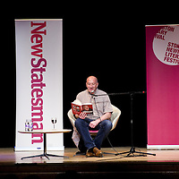 Simon Day<br /> On stage at the Stoke Newington Literary Festival. 2 June 2012<br /> <br /> Picture by David X Green/Writer Pictures