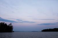 Strawberry Moon rising on Lake Winnipesaukee.  ©2016 Karen Bobotas Photographer