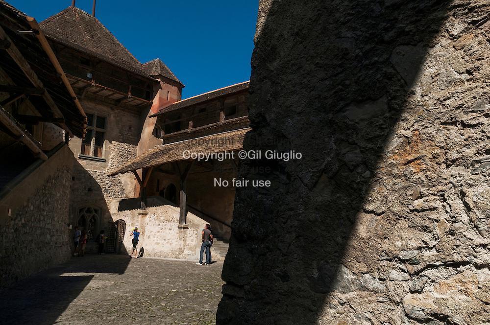 Suisse, Canton de Vaud, Région du Léman, le château de Chillon // Switzerland, Canton of Vaud, region of Leman, castle of Chillon