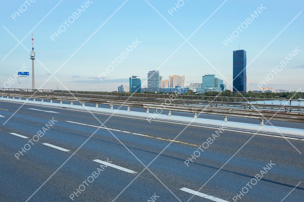 Building and highway in Wien