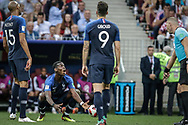 Paul Pogba of France reacts during the 2018 FIFA World Cup Russia, final football match between France and Croatia on July 15, 2018 at Luzhniki Stadium in Moscow, Russia - Photo Thiago Bernardes / FramePhoto / ProSportsImages / DPPI