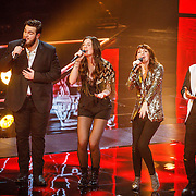 NLD/Hilversum/20160129 - Finale The Voice of Holland 2016, Dave Vermeulen. Maan, Jennie Lena, Brace