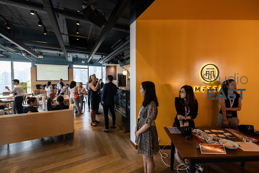 Set-up and Registration during Brands in Motion Breakfast Briefing in Hong Kong, China, on 21 September 2018. Photo by Lucas Schifres/Studio EAST