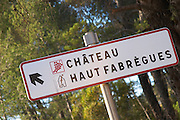 Chateau Haut Fabregues. Faugeres. Languedoc. France. Europe.