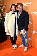 100% NL Awards 2018 in Panama, Amsterdam.<br /> <br /> Op de foto:  Dirk Zeelenberg en partner Suus Schenk