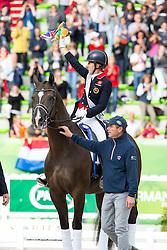 Charlotte Dujardin, (GBR), Valegro - Alltech FEI World Equestrian Games™ 2014 - Normandy, France.<br /> © Hippo Foto Team - Leanjo de Koster<br /> 25/06/14