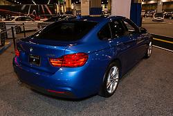 CHARLOTTE, NORTH CAROLINA - NOVEMBER 20, 2014: BMW 428i sedan on display during the 2014 Charlotte International Auto Show at the Charlotte Convention Center.