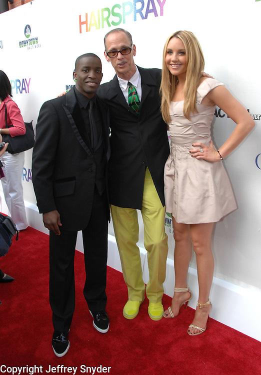 Elijah Kelly, John Waters and Amanda Bynesnattend the Baltimore Premiiere of the new movie Hairspray