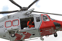 UK Coastguard Rescue Helicopter; Agusta Westland AW139; G-SARD, Stokes Bay, Gosport, Portsmouth, UK, 29 May 2011:  Contact: Rich@Piqtured.com +44(0)7941 079620 (Picture by Richard Goldschmidt)