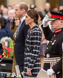The Duke and Duchess of Cambridge attend the Manchester Cenotaph memorial service for Manchester's six Victoria Cross recipients  <br /> <br /> (c) John Baguley   Edinburgh Elite media