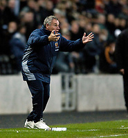 Photo: Jed Wee.<br />Hull City v Cardiff City. Coca Cola Championship.<br />03/12/2005.<br />Hull manager Peter Taylor reacts incredulously to a refereeing decision.