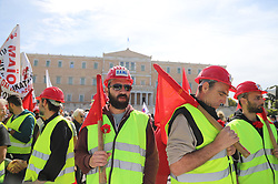 May 1, 2019 - Athens, Attiki, Greece - Greek unions demonstrate in Athens to commemorate the May Day or Labor Day. (Credit Image: © George Panagakis/Pacific Press via ZUMA Wire)