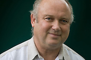 Acclaimed British author Louis de Berniers pictured at the Edinburgh International Book Festival where he talked his new novel entitled A Partisan's Daughter. The three-week event is the world's biggest literary festival and is held during the annual Edinburgh Festival. 2008 was the Book Festival's 25th anniversary and featured talks and presentations by more than 500 authors from around the world.
