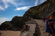 People on Coumeenoole Beach, Slea Head, Dingle Peninsula, Kerry, Ireland