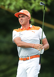 May 19, 2019 - Farmingdale, NY, U.S. - FARMINGDALE, NY - MAY 19: Rickie Fowler of the United States watches his tee shot on 14 during the Final Round of the 2019 PGA Championship, on the Black Course, Bethpage State Park, in Farmingdale, NY. (Photo by Joshua Sarner/Icon Sportswire) (Credit Image: © Joshua Sarner/Icon SMI via ZUMA Press)