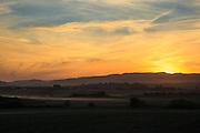 USA, Oregon, Baskett Slough National Wildlife Refuge, sunset.