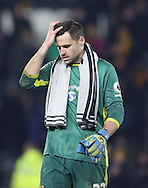 David Marshall of Hull City walks off after the English Premier League match at the KCOM Stadium, Kingston Upon Hull. Picture date: December 30th, 2016. Pic Simon Bellis/Sportimage