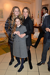 VISCOUNTESS ROTHERMERE with her daughter THEODORA HARMSWORTH (Taller) and IRIS HARMSWORTH at a party to celebrate the launch of Conran Italia at The Conran Shop, Michelin House, 81 Fulham Road, London on 19th March 2015.