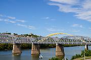 L & N Bridge, a.k.a. The Purple People Bridge, Cincinnati, Ohio.
