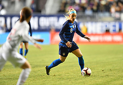 February 27, 2019 - Chester, PA, U.S. - CHESTER, PA - FEBRUARY 27: US Midfielder Julie Ertz (8) carries the ball in the second half during the She Believes Cup game between Japan and the United States on February 27, 2019 at Talen Energy Stadium in Chester, PA. (Photo by Kyle Ross/Icon Sportswire) (Credit Image: © Kyle Ross/Icon SMI via ZUMA Press)