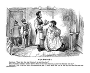 """Alarming! Hairdresser. """"They say, sir, the cholera's in the hair, sir!"""" Gent, very uneasy. """"Indeed! Ahem! Then I hope you're very particular about the brushes you use."""" Hairdresser. """"Oh! I see you don't hunderstand me, sir. I don't mean the 'air of the 'ed, but the hair hof the hatomsphere!"""""""
