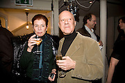 LORD AND LADY FOSTER, party to celebrate the 100th issue of Granta magazine ( guest edited by William Boyd.) hosted by Sigrid Rausing and Eric Abraham. Twentieth Century Theatre. Westbourne Gro. London.W11  15 January 2008. -DO NOT ARCHIVE-© Copyright Photograph by Dafydd Jones. 248 Clapham Rd. London SW9 0PZ. Tel 0207 820 0771. www.dafjones.com.