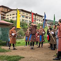 An archery competition in Thimpu, Bhutan<br /> <br /> Full photoessay at http://xpatmatt.com/photos/bhutan-photos/