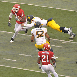 Dec 5, 2009; Piscataway, NJ, USA; Rutgers wide receiver Mohamed Sanu (6) returns a punt during first half NCAA Big East college football action between Rutgers and West Virginia at Rutgers Stadium.