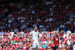 Zlatan Ibrahimovic of Manchester United looks on - Rogan Thomson/JMP - 14/08/2016 - FOOTBALL - Vitality Stadium - Bournemouth, England - Bournemouth v Manchester United - Premier League Opening Weekend.