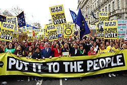 March 23, 2019 - London, London, UK - London, UK. Thousands march through central London to demand that government allow a ''People's Vote'' on the Brexit deal. Several key votes will be held in Parliament in the coming week. (Credit Image: © Rob Pinney/London News Pictures via ZUMA Wire)