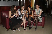 Catherine Laurence, Sophie Hung, Noor Rahikm and Eliza Warwick, Royal Court Theatre 50th Anniversary Gala sponsored by Vanity Fair. Titanic. Brewer St. London. 26 April 2006. ONE TIME USE ONLY - DO NOT ARCHIVE  © Copyright Photograph by Dafydd Jones 66 Stockwell Park Rd. London SW9 0DA Tel 020 7733 0108 www.dafjones.com