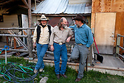 Bud Petryszak, Andy Breland, and Chuck Allen outside the Stonefly Lounge waiting for the premier of Dead End Express.