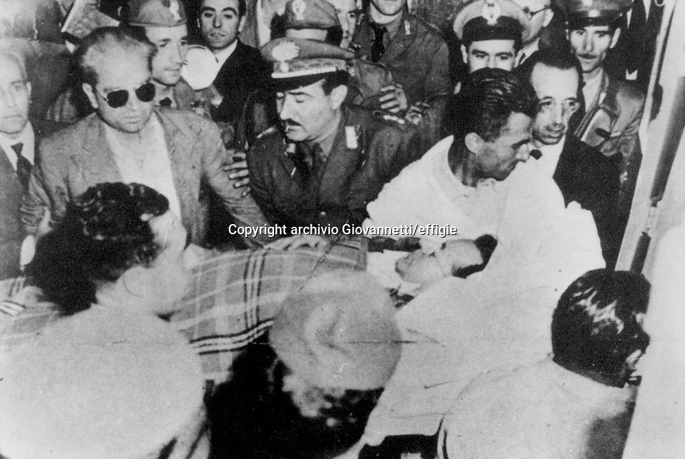 attentato a Palmiro Tolgiatti <br />14/07/1948<br />archivio Giovannetti/effigie