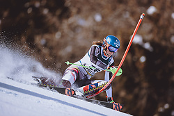 15.02.2021, Cortina, ITA, FIS Weltmeisterschaften Ski Alpin, Alpine Kombination, Damen, Slalom, im Bild Petra Vlhova (SVK) // Petra Vlhova of Slovakia in action during the Slalom competition for the women's alpine combined of FIS Alpine Ski World Championships 2021 in Cortina, Italy on 2021/02/15. EXPA Pictures © 2021, PhotoCredit: EXPA/ Johann Groder