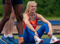 Hanneke Oosterwegel in action during the Press presentation of the olympic team Athletics on July 8, 2021 in Papendal Arnhem