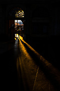 """Long winter shadows fall in the entrance hall of Estació de França, railway station, Barcelona, December 2017. This mage can be licensed via Millennium Images. Contact me for more details, or email mail@milim.com For prints, contact me, or click """"add to cart"""" to some standard print options."""
