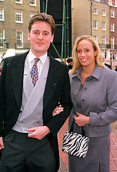 MR HARRY BAKER and LADY MARISA AGAR at a wedding in London on 4th February 2000.OAT 20
