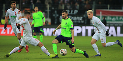 15.12.2018, 1.BL, FCA vs Schalke 04, WWK Arena Augsburg, Fussball, Sport, im Bild:..Marco Richter (FC Augsburg), Daniel Caligiuri (Schalke 04) und Philipp Max (FC Augsburg)..DFL REGULATIONS PROHIBIT ANY USE OF PHOTOGRAPHS AS IMAGE SEQUENCES AND / OR QUASI VIDEO...Copyright: Philippe Ruiz..Tel: 089 745 82 22.Handy: 0177 29 39 408.e-Mail: philippe_ruiz@gmx.de. (Credit Image: © Philippe Ruiz/Xinhua via ZUMA Wire)