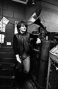 Bono of U2 visits a Juke Box store - Atlanta  USA - December 1981