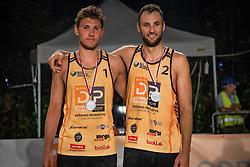 Male 2nd. place Danijel Pokersnik and Sergej Drobnic on Beach volley National Championship of Slovenia  on July 20, 2019 in Kranj, Slovenia. Photo by Urban Meglic / Sportida