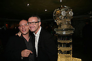 BRADLEY HIRST AND DAMIEN HIRST, Beyond Belief-Damien Hirst. White Cube Hoxton and Mason's Yard.Party  afterwards at the Dorchester. Park Lane. 2 June 2007.  -DO NOT ARCHIVE-© Copyright Photograph by Dafydd Jones. 248 Clapham Rd. London SW9 0PZ. Tel 0207 820 0771. www.dafjones.com.