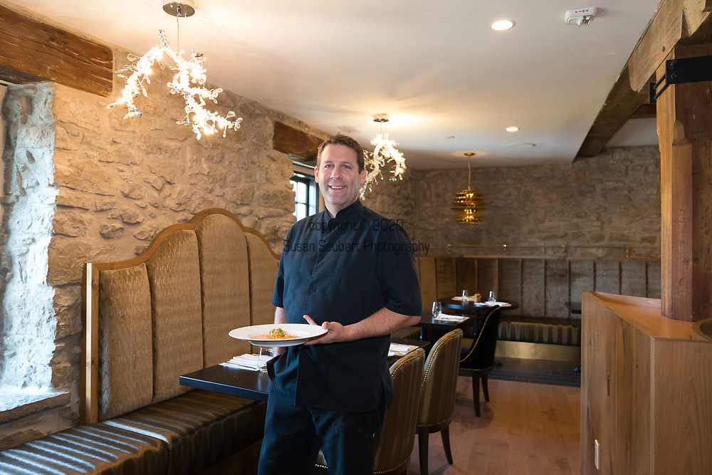Executive Chef John Bakker at the Elora Mill Hotel in downtown Elora, Ontario, Canada