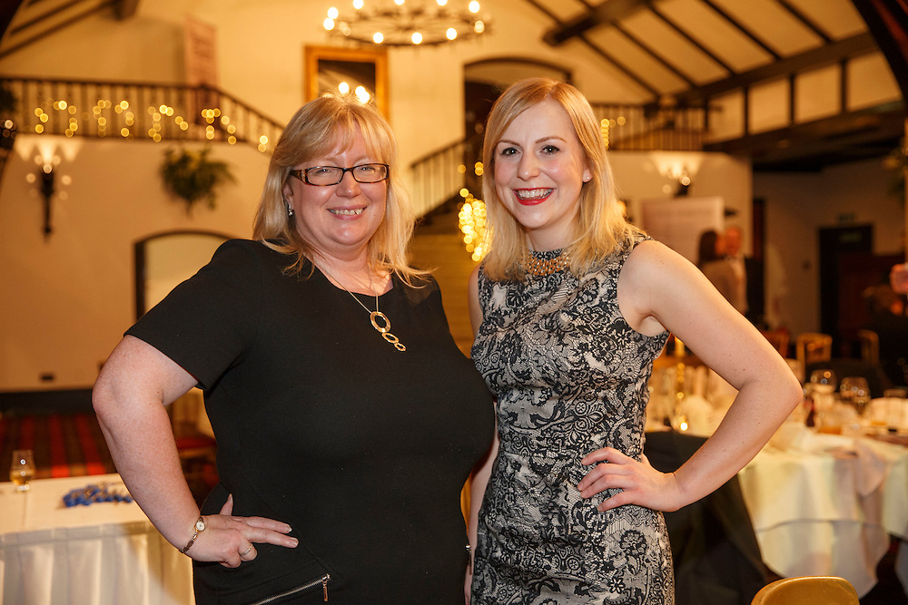 Burns Supper event in at the Brig o'Doon Hotel in Alloway.  L to R :  Alison Kelly and Mandy Stewart both of Digby Brown.  Picture Robert Perry  24th Jan 2016<br /> <br /> Must credit photo to Robert Perry<br /> FEE PAYABLE FOR REPRO USE<br /> FEE PAYABLE FOR ALL INTERNET USE<br /> www.robertperry.co.uk<br /> NB -This image is not to be distributed without the prior consent of the copyright holder.<br /> in using this image you agree to abide by terms and conditions as stated in this caption.<br /> All monies payable to Robert Perry<br /> <br /> (PLEASE DO NOT REMOVE THIS CAPTION)<br /> This image is intended for Editorial use (e.g. news). Any commercial or promotional use requires additional clearance. <br /> Copyright 2014 All rights protected.<br /> first use only<br /> contact details<br /> Robert Perry     <br /> 07702 631 477<br /> robertperryphotos@gmail.com<br /> no internet usage without prior consent.         <br /> Robert Perry reserves the right to pursue unauthorised use of this image . If you violate my intellectual property you may be liable for  damages, loss of income, and profits you derive from the use of this image.
