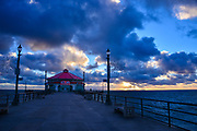 Stormy Clouds Sunset at Huntington Beach Pier in December