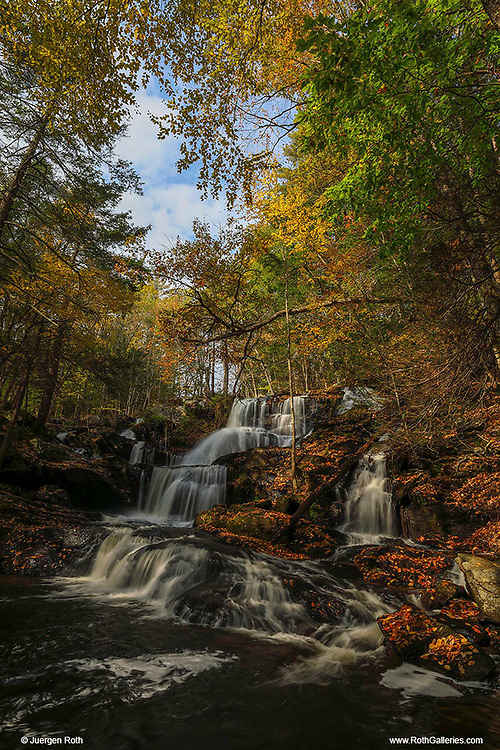 This fall I returned to Southern New Hampshire for another exquisite waterfall photography adventure. Garwin Falls must be one of the most beautiful waterfalls in New Hampshire and probably one of the most scenic waterfalls in all New England. After a rainy fall day waterflow was good and I arrived early enough to make good use of the morning light. Equipped with a variety of Lee filters I create a silky water effects through a long exposure of multiple seconds and was able to control the light between darker foregrounds and brighter parts of the scenery.    <br /> <br /> Southern New Hampshire Garwin Falls photography images are available as museum quality photography prints, canvas prints, acrylic prints or metal prints. Prints may be framed and matted to the individual liking and decorating needs at:<br /> <br /> https://juergen-roth.pixels.com/featured/new-hampshire-garwin-waterfall-juergen-roth.html<br /> <br /> All high resolution New Hampshire photography images are available for photo image licensing at www.RothGalleries.com. Please contact me direct with any questions or request. <br /> <br /> Good light and happy photo making!<br /> <br /> My best,<br /> <br /> Juergen<br /> Prints: http://www.rothgalleries.com<br /> Photo Blog: http://whereintheworldisjuergen.blogspot.com<br /> Instagram: https://www.instagram.com/rothgalleries<br /> Twitter: https://twitter.com/naturefineart<br /> Facebook: https://www.facebook.com/naturefineart