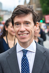 © Licensed to London News Pictures. 20/06/2019. London, UK. Former leadership contender Secretary of State for International Development Rory Stewart leaves Parliament as MPs vote for the next Leader of the Conservative Party. The final two candidates will be put to the party membership in a ballot. Photo credit: Rob Pinney/LNP